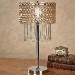 Evianna Vintage Style Table Lamp Silver