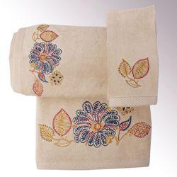 Thea Bath Towel Set Beige Bath Hand Fingertip