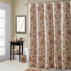 Thea Shower Curtain Multi Warm 72 x 72