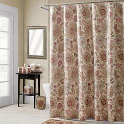 Thea Shower Curtain Multi Warm 72 x 72