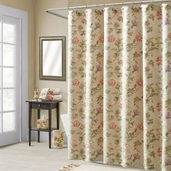 Daphne Shower Curtain Champagne 72 x 72