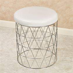 Cosmos Vanity Stool Chrome