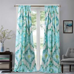 Cascade Tailored Curtain Pair Multi Cool 84 x 84