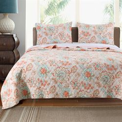 Cordelia Quilt Set Peach