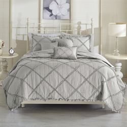 Rosie Coverlet Bed Set Gray