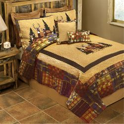 Doe Valley Quilt Multi Warm