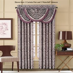 Gianna Tailored Curtain Pair Orchid 98 x 84