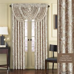Caitlin Wide Tailored Curtain Pair Almond 100 x 84