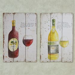 Wine Defined Wooden Wall Art Multi Jewel Set of Two