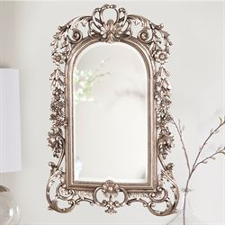 Sherwood Wall Mirror Antique Silver