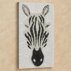 Zebra Canvas Wall Art Black/White