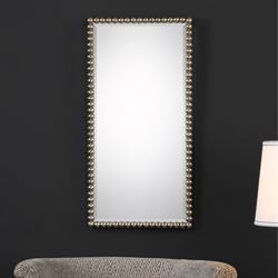 Serna Wall Mirror Antique Silver