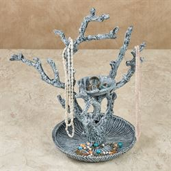 Shell and Coral Jewelry Holder Blue