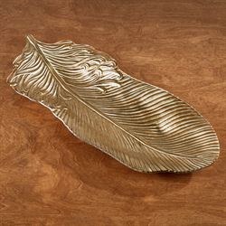 Stylized Feather Tray Gold