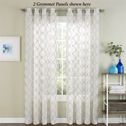 Corson Semi Sheer Grommet Curtain Panel Off White 53 x 84