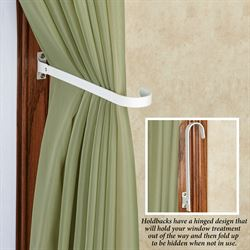 Jaxson Curtain Holdbacks White Pair