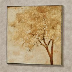 Morning Maple Framed Wall Art Gold