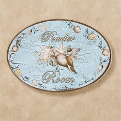 Seashell Powder Room Wall Plaque Multi Cool