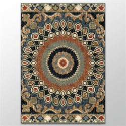 Carlita Rectangle Rug Multi Earth
