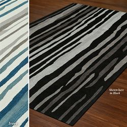 Brushed Stripes Rectangle Rug