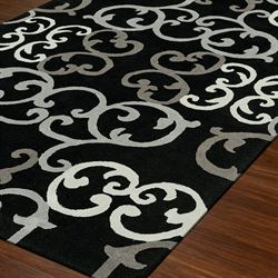 Gothic Cathedral Rectangle Rug Black