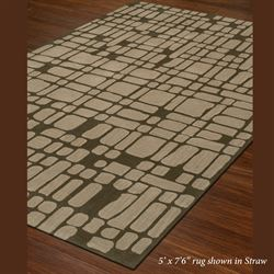 Errant Crosshatch Rectangle Rug