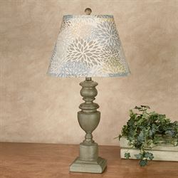 Madeline Floral Table Lamp Gray