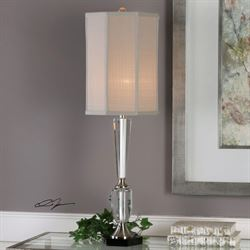 Eliza Table Lamp Brushed Silver