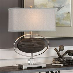 Malik Table Lamp Brushed Nickel