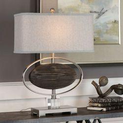 Malik Table Lamp Brushed Nickel