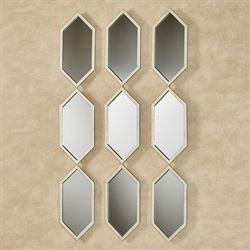 Martin Mirrored Wall Accents Platinum Set of Three