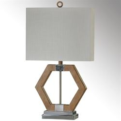 Anga Geometric Table Lamp Polished Chrome