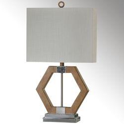 Anga Geometric Table Lamp Polished Chrome