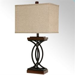 Shire Table Lamp Black