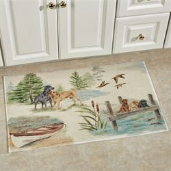 Woodland Dogs Bath Rug Ecru 33 x 20