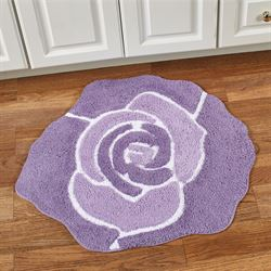 Bloom Flower Shaped Bath Rug Purple 26 x 28