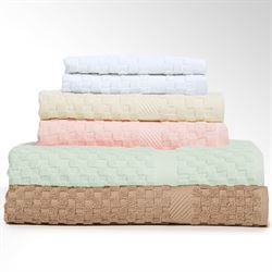 Waffle Weave Spa Bath Towel Set Six Piece Set