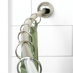 NeverRust Single Tension Curved Shower Rod