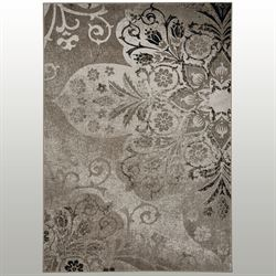 Venetian Fleur Rectangle Rug Taupe
