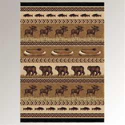 Trophy Room Rectangle Rug Multi Earth