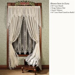 Graceful Rose Lace Curtain Panel