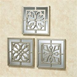 Ryan Mirrored Wall Art Platinum Set of Three