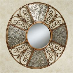 Diletta Mirrored Wall Art Multi Metallic