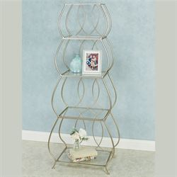 Krysta Etagere Champagne Gold 4 Tier