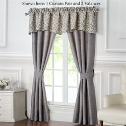 Charlize Gray Wide Tailored Curtain Pair 100 x 84