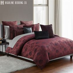 Gabriella Floral Mini Comforter Set Wine