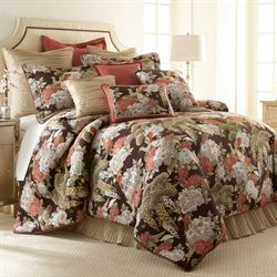 Paradise Peacock Mini Comforter Set Chocolate