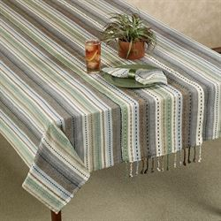 Phoenix Oblong Tablecloth Multi Earth