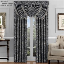 Raffaella Tailored Curtain Pair Graphite 98 x 84