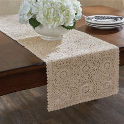 Lace Table Runner Cream 13 x 36